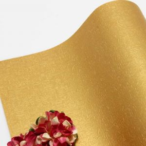 Single-sided Pearlescent Embossed papers, Gold colour, 78cm x 54cm, 1 sheet, (UAV0008)